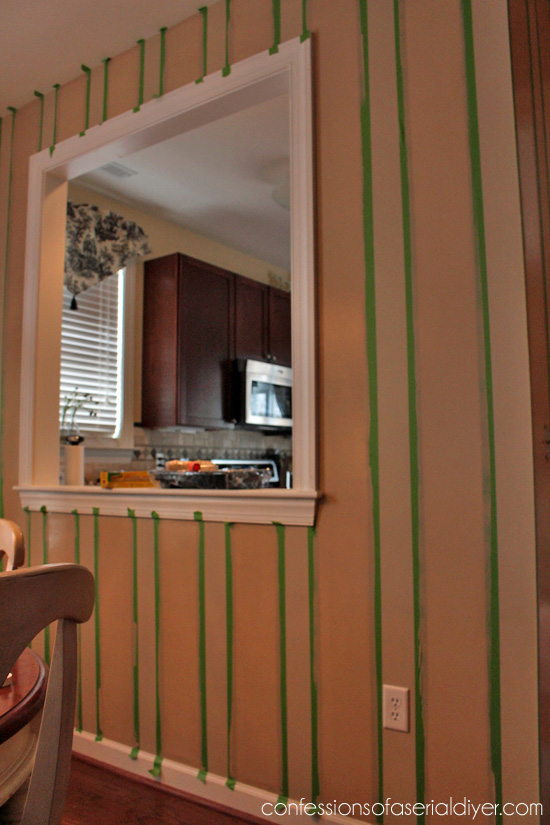 Striped accent wall using Frog Tape