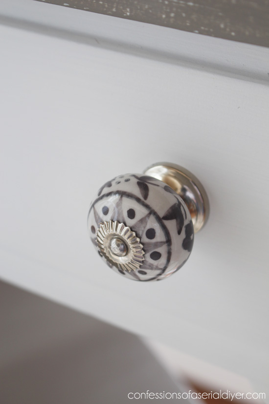 Handpainted knobs from HomeGoods