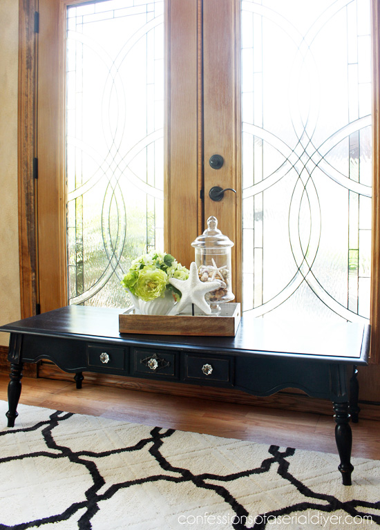 Pottery Barn Inspired Coffee Table (Resembles the Tivoli a bit, but not the price tag!)
