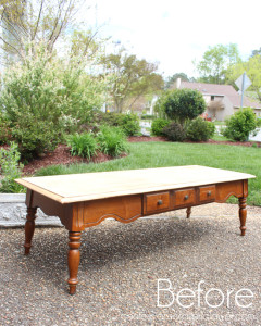 Pottery Barn-Inspired Coffee Table