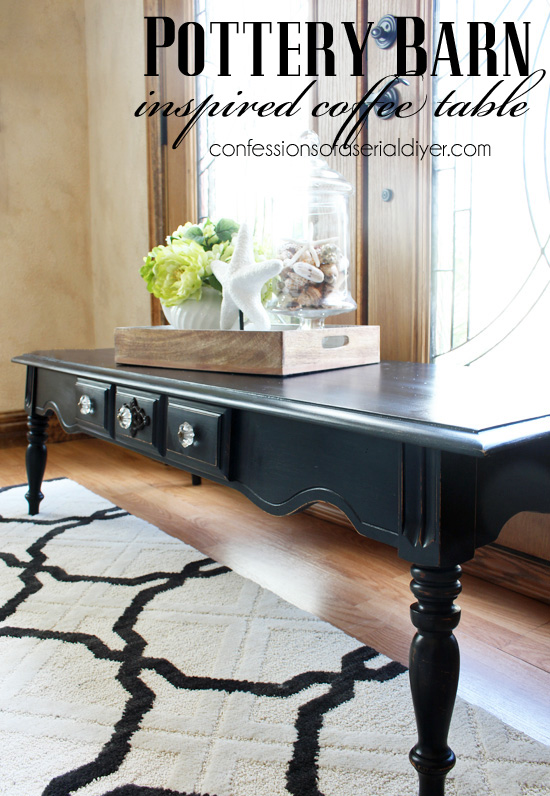 Pottery Barn Inspired Coffee Table (Resembles the Tivoli a bit, but not the price tag!))