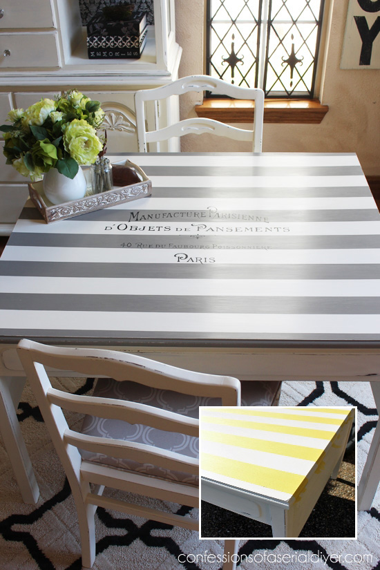 Paris, Table for Two painted using FrogTape