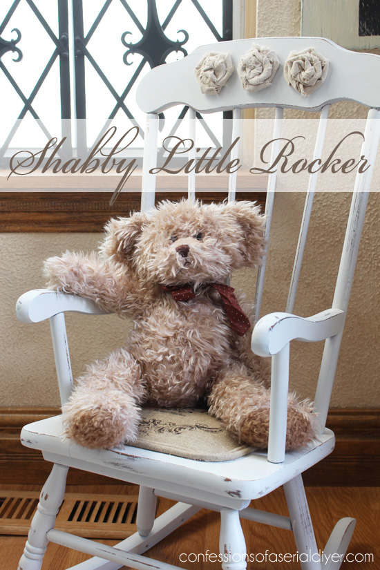 SHabby little rocking chair makeover