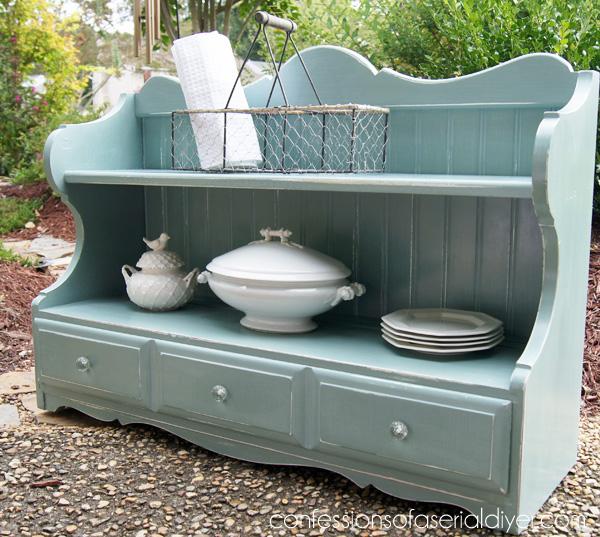 Duck Egg Blue Cottage Shelf