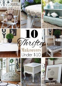 10 Thrifty Makeovers under $10