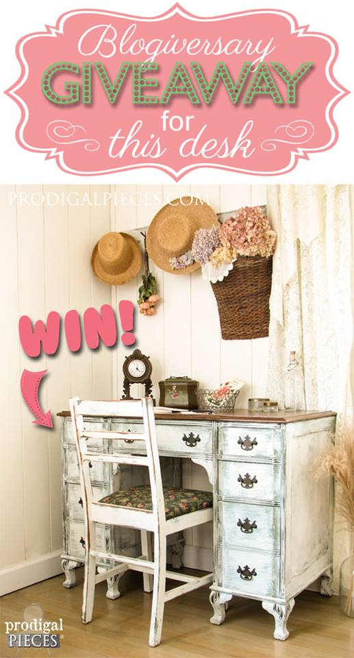 Blogiversary giveaway for Prodigal Pieces