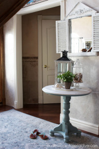 Chalk Painted Pedestal Table