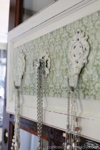 Cabinet Door to Jewelry Organizer