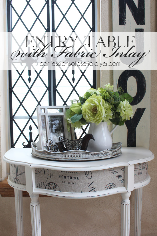 Entry Table with Fabric Inlay