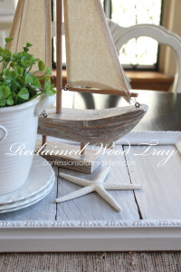 White-Washed Reclaimed Wood Tray