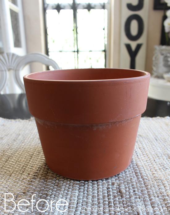 Scallop-Shell-Terra-Cotta-Pot-Before