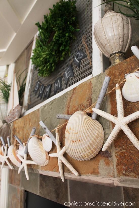 diy shell garland