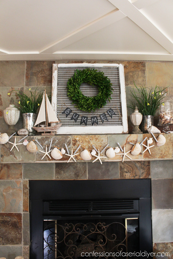Make a shell garland to add a splash of Summer to your decor!
