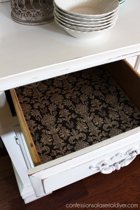 Line drawers with pretty paper!