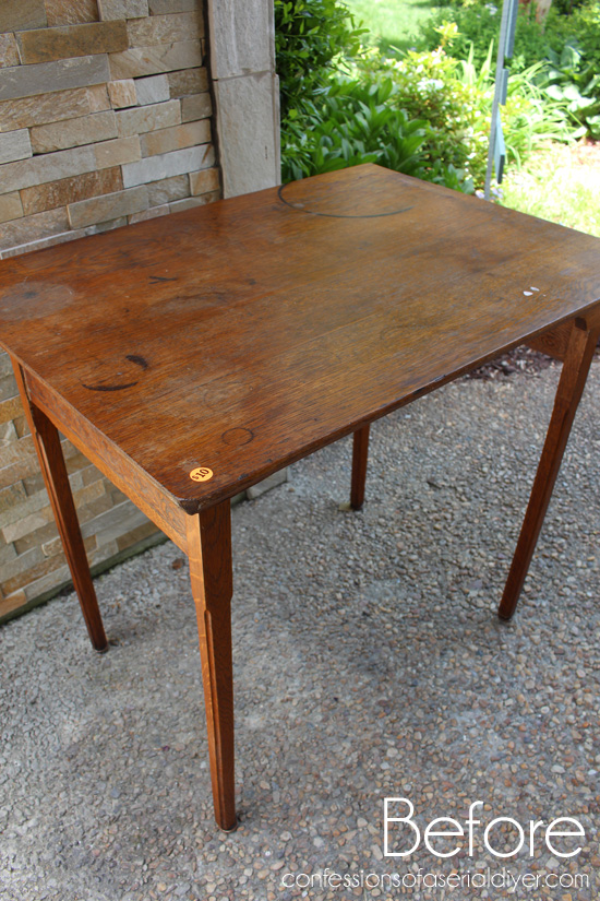 It is an antique sewing/cutting table, and at one time it folded for easy  storage. The legs were screwed in place when I found it. They were asking  $10, ... - Antique Folding Sewing Table