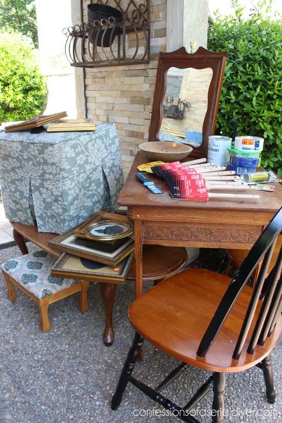 Sewing-Table-Yard-Sale-Haul