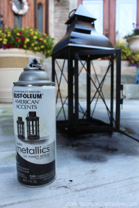 Update an old faded lantern with a little spraypaint!