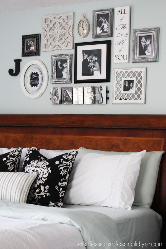 Gallery Wall Design bedroom gallery wall: a decorating challenge | confessions of a