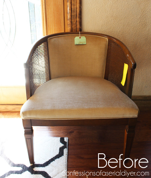 Good Club Chair Redo How To Before 1