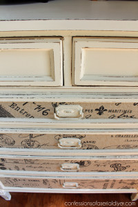 Update hardware with satin spray paint. This is Rustoleum's Heirloom White.