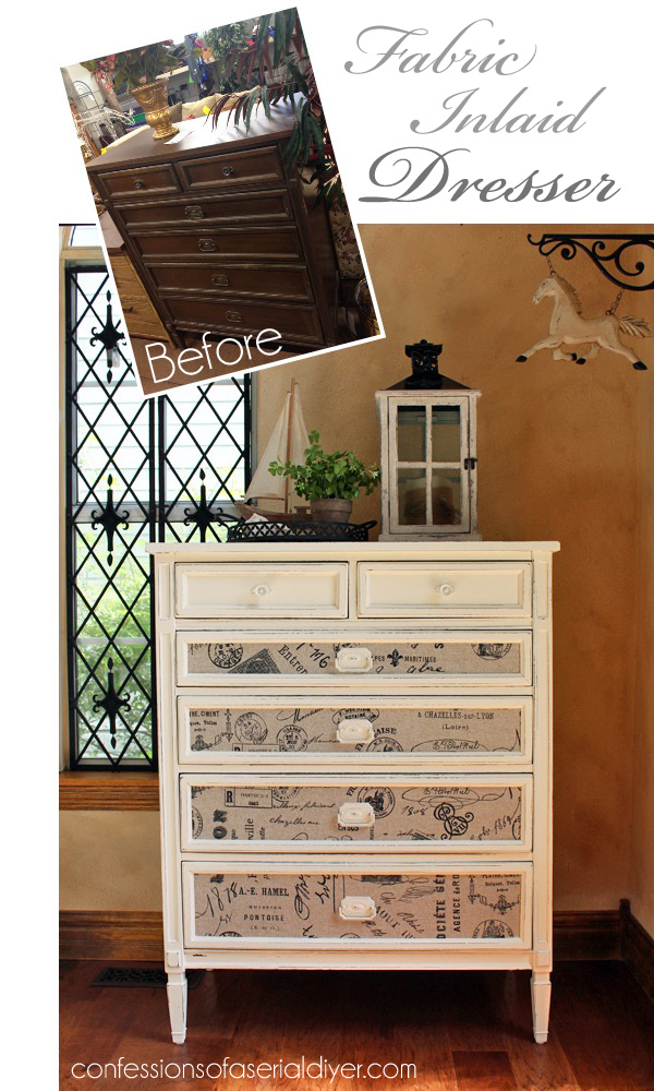 This Thrifty Dresser Got A Whole New Look With Some Paint And Fabric