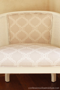 Vintage Cane Club Chair Makeover