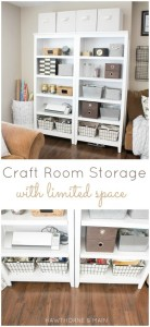 Craft Room Storage with Limited Space from Hawthorne and Main
