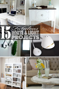 15 Fabulous White and Light Projects {Get Your DIY On Features!}