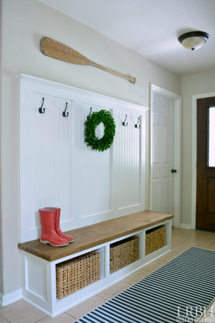 Mudroom Storage Diy : Fabulous white and light projects just a girl her