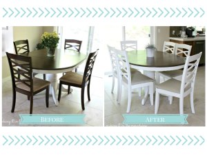 Dining Chair Makeover from Making it in the Mountains