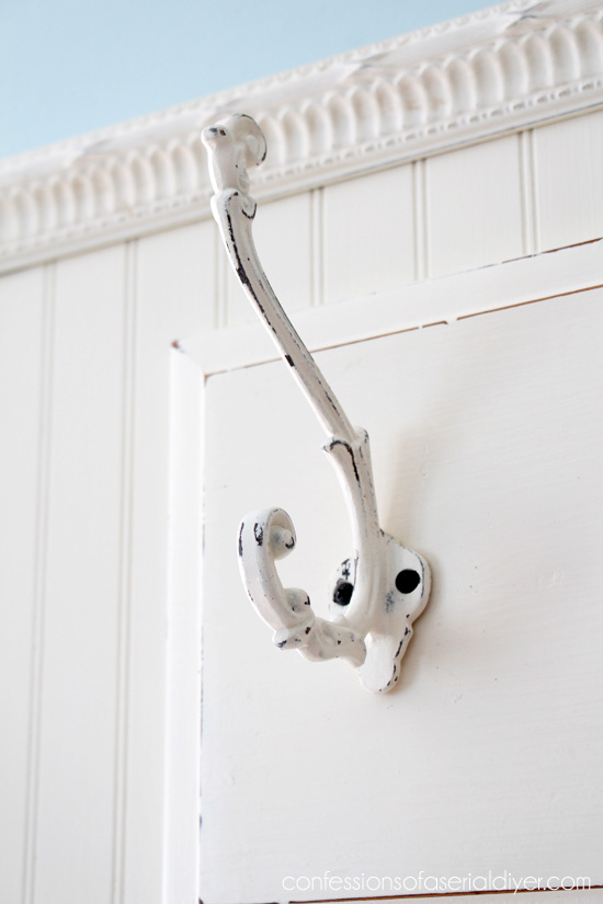 These hooks form Hobby Lobby are perfect for hanging jackets, back packs, etc.