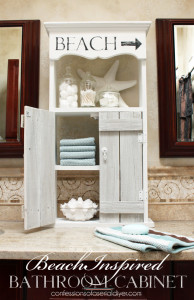 Beach-Inspired Bathroom Cabinet