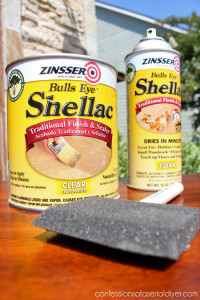 Shellac will seal in stain to prevent bleed-through and seal in odors too!