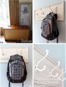 Pair an old drawer front and a thrift store frame to create a simple hanging rack! confessionsofaserialdiyer.com
