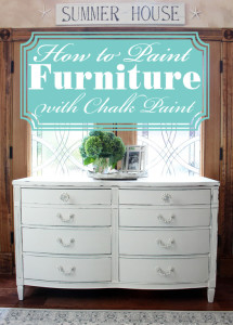 Painting furntiure with chalk paint step-by-step from confessionsofaserialdiyer.com