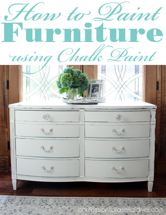 how to paint furniture using chalk paint confessions of a serial do it yourselfer. Black Bedroom Furniture Sets. Home Design Ideas