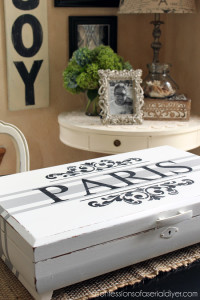 Vintage flatware chests are perfect candidates for makeovers!