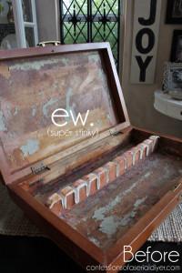 Stinky Gross Flatware Box Makeover