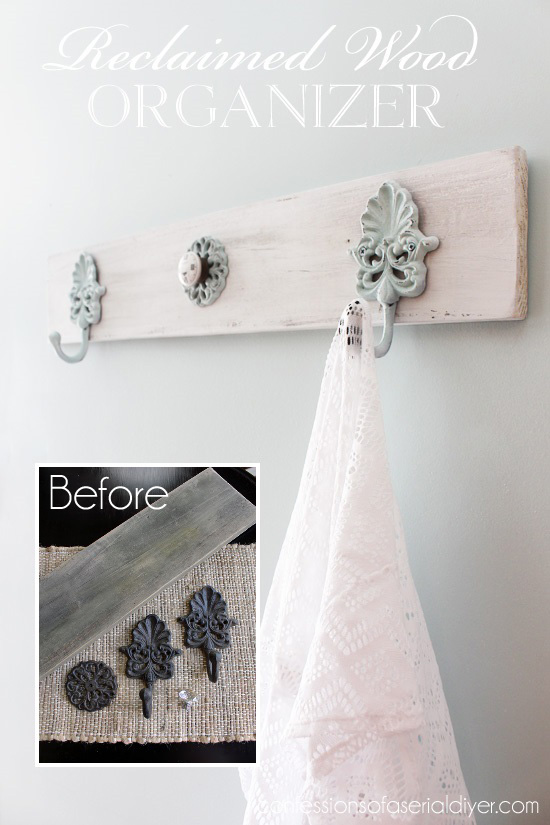 Love the feel of this for a beachy space...made from an old fence picket.