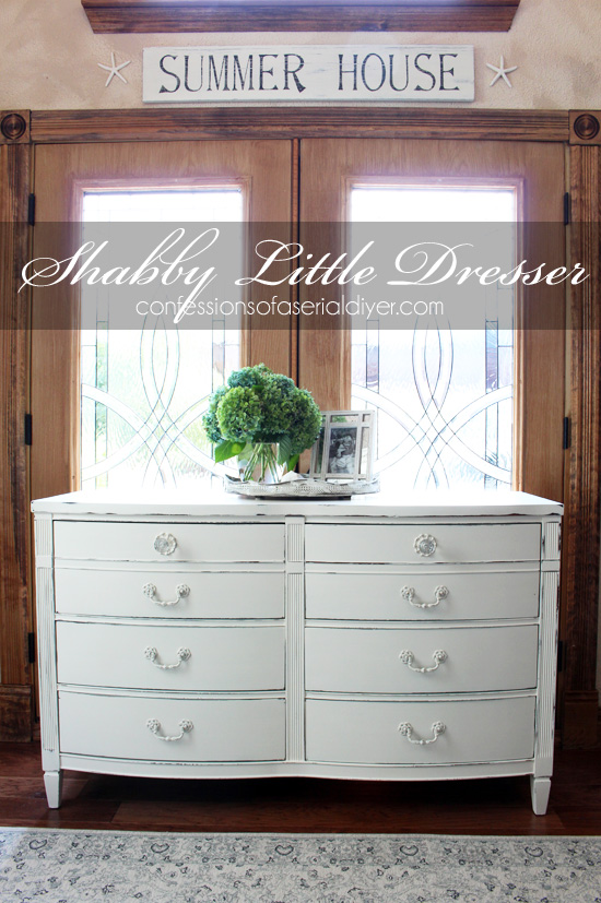 The perfect style dresser for a shabby little makeover. How to Paint Furniture using Chalk Paint   Confessions of a Serial