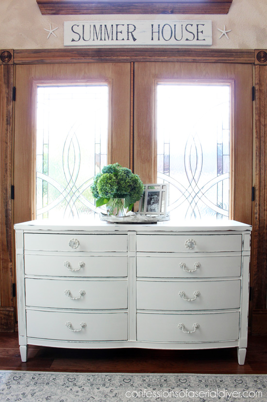 The perfect style dresser for a shabby little makeover!