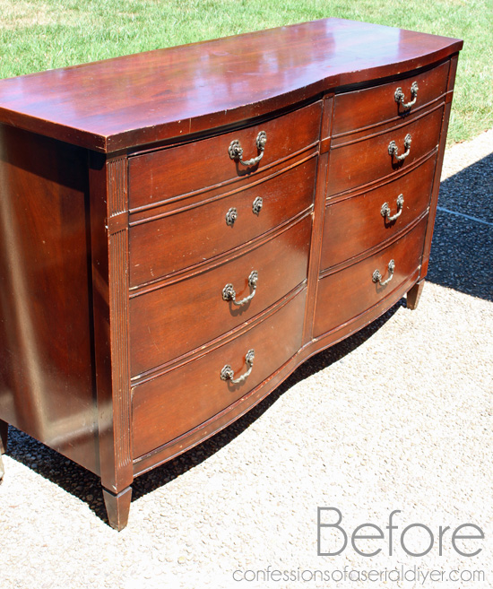 Shabby Little Dresser Before. How to Paint Furniture using Chalk Paint   Confessions of a Serial