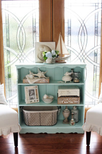 This sad little bookcase I found at the thrift store is now a coastal cottage charmer! Confessions of a Serial Do-it-Yourselfer