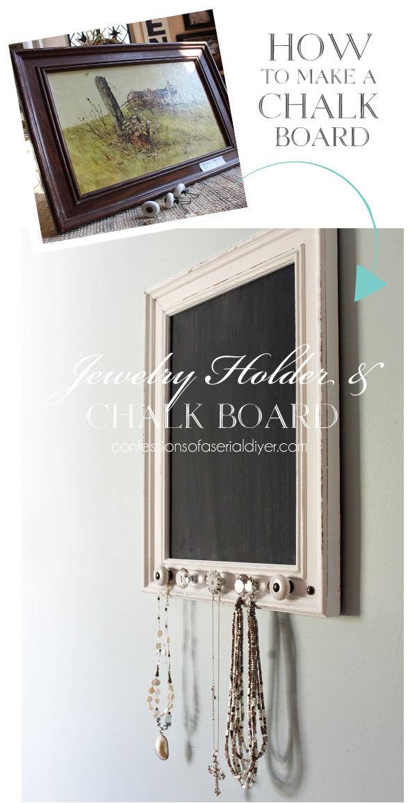 How to make a chalkboard from confessionsofaserialdiyer.com