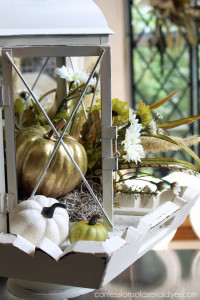 Fall Lantern Centerpiece (I almost threw this old lantern away!) Confessions of a Serial Do-it-Yourselfer