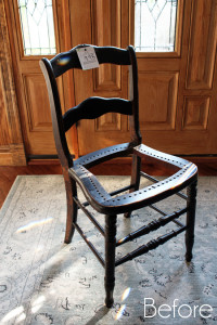 Petite French Chair (& How to Fix a Broken Seat)