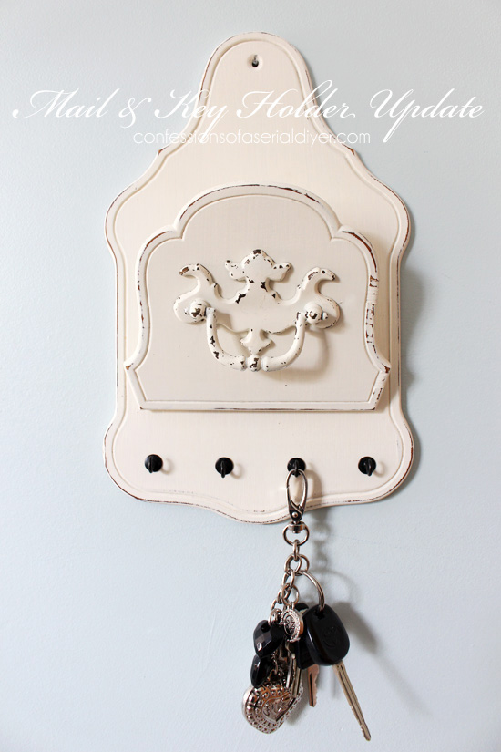 Mail & Key holder..an updated thrift store find. Confessions of a Serial Do-it-Yourselfer