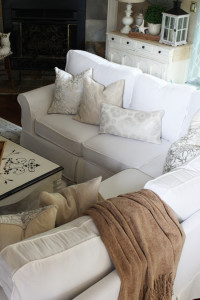 How to make custom cushion covers with Confessions of a Serial Do-it-Yourselfer