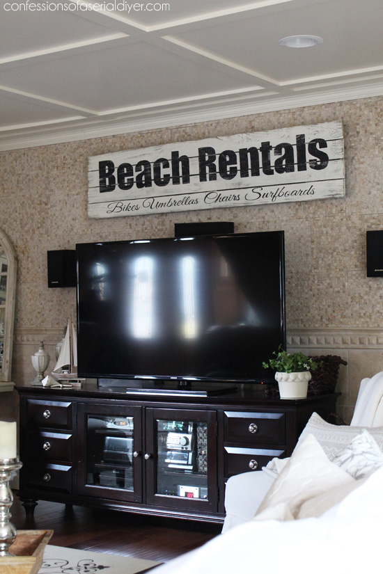 See how to make this beachy sign here. Confessions of a Serial Do-it Yourselfer