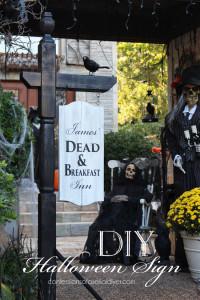 DIY Halloween Sign